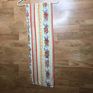"""Floral Scarf 67"""" Long Excellent Condition"""